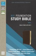 NIV Foundation Study Bible Earth Brown (Red Letter Edition) Premium Imitation Leather