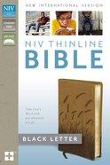 NIV Thinline Bible Toffee Imitation Leather
