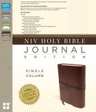 NIV Single-Column Journaling Bible Burgundy Genuine Leather