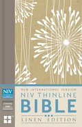 NIV Thinline Bible Linen Edition Abstract Floral Design (Red Letter Edition) Hardback