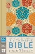 NIV Thinline Bible Linen Edition Colourful Floral Design (Red Letter Edition) Hardback