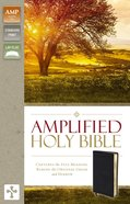 Amplified Holy Bible Black (Black Letter Edition) Bonded Leather