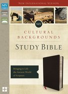 NIV Cultural Backgrounds Study Bible Indexed (Red Letter Edition) Bonded Leather