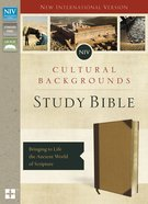 NIV Cultural Backgrounds Study Bible Brown/Tan Indexed (Red Letter Edition) Premium Imitation Leather