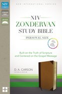 NIV Zondervan Study Personal Size Indexed Brown/Black (Black Letter Edition) Premium Imitation Leather