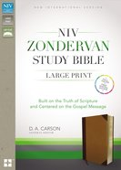 NIV Zondervan Study Bible Large Print Indexed Brown/Tan (Black Letter Edition) Premium Imitation Leather