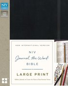 NIV Journal the Word Bible Large Print Black (Black Letter Edition) Hardback