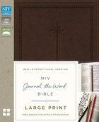 NIV Journal the Word Bible Large Print Brown (Black Letter Edition)