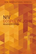 NIV Pocket Gospel of John Reader's Edition Orange Cross (Black Letter Edition) Paperback