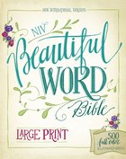 NIV Beautiful Word Bible Large Print Floral (Black Letter Edition) Hardback