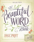 KJV Beautiful Word Bible Large Print 500 Full-Color Illustrated Verses (Red Letter Edition) Hardback