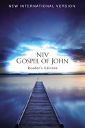 NIV Pocket Gospel of John Reader's Edition Blue Pier (Black Letter Edition) Paperback