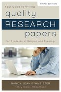 Quality Research Papers Paperback