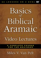 Basics of Biblical Aramaic Video Lectures (Zondervan Academic Course Dvd Study Series)