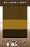 KJV Backpack Bible Italian Bark/Chocolate (Red Letter Edition)