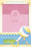 NIV Baby Keepsake Bible Pink (Red Letter Edition) Premium Imitation Leather