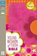 NIV Young Women of Faith Bible Pink/Orange Flowers (Black Letter Edition)