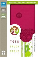 NIV Teen Study Bible Cranberry