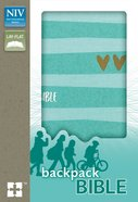NIV Backpack Bible Compact Turquoise/ Gold (Red Letter Edition) Paperback