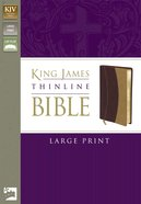 KJV Thinline Large Print Italian Burgundy/Camel Duo-Tone (Red Letter Edition) Imitation Leather