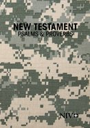NIV New Testament With Psalms & Proverbs Pocket-Sized Military Edition Digi Camo (Black Letter Edition) Paperback