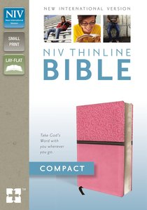 NIV Compact Thinline Bible Pink Duo-Tone