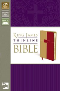 KJV Thinline Bible Italian Duo-Tone (Red Letter Edition)
