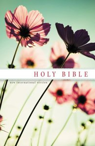 NIV Holy Bible Witness Edition Flowers (Black Letter Edition)