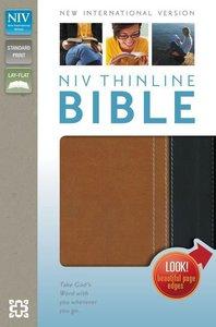 NIV Thinline Bible Italian Duo-Tone Caramel/Black (Red Letter Edition)
