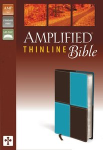 Amplified Thinline Bible Italian Duo-Tone Blue/Brown Square Pattern