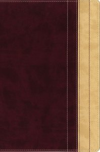 NIV Thinline Reference Large Print Dark Raspberry/Creme Brulee Duo-Tone (Red Letter Edition)