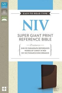 NIV Super Giant Print Reference Bible Chocolate (Red Letter Edition)