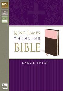 KJV Large Print Thinline Pink/Chocolate (Red Letter Edition)