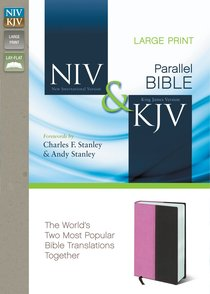NIV KJV Side By Side Bible Large Print Orchid/Chocolate Duo-Tone