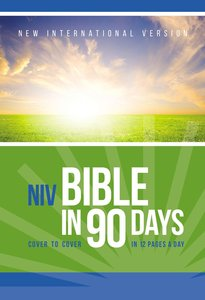 NIV Bible in 90 Days (Red Letter Edition)