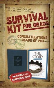 NKJV 2017 Survival Kit For Grads Boys Edition Blue Red Letter Edition