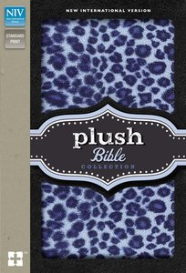 NIV Plush Bible Collection Blue Leopard Print (Red Letter Edition)