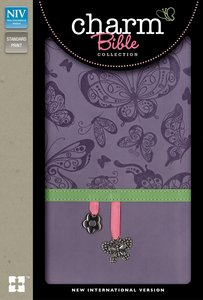 NIV Charm Bible Collection Purple Butterfly Charm