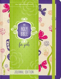 NIV Holy Bible For Girls Journal Edition Purple Elastic Closure