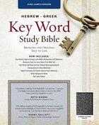 KJV Hebrew-Greek Key Word Study Bible Black Bonded Leather Indexed