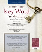 KJV Hebrew-Greek Key Word Study Bible Burgundy Genuine Leather Indexed