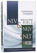 NIV NKJV NLT Message Contemporary Comparative Side-By-Side Bible Hardback