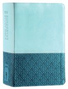 NIV Zondervan Study Bible Full Colour Personal Size Sea Glass Caribbean Blue (Black Letter Edition) Premium Imitation Leather