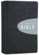 Amplified Joyce Meyer Everyday Life Bible Pewter With Graphite Inset (Black Letter Edition)