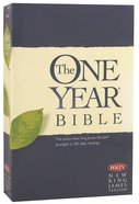 NKJV One Year Bible (Black Letter Edition) Paperback