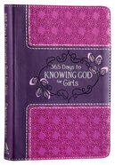 365 Days to Knowing God For Girls (Purple/pink) Imitation Leather