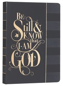 Journal: Be Still & Know.....Black, Saved By Grace