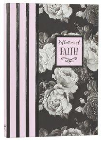 Hardback Botanical Journal: Reflections of Faith, Pink/Black/White/Roses