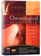 NKJV Chronological Study Bible Burgundy (Black Letter Edition) Hardback