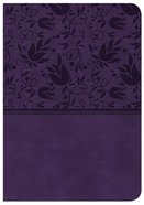 CSB Large Print Compact Reference Bible Purple Red Letter Edition Imitation Leather